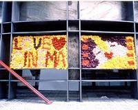参加団体の花絵2004