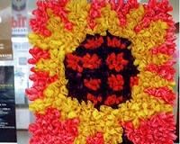 参加団体の花絵2005