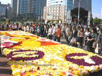 参加団体の花絵2007