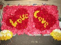 参加団体の花絵2010