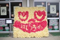 参加団体の花絵2011