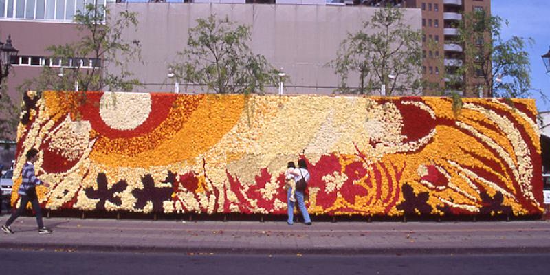 巨大花絵2002