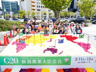 G20新潟農業大臣会合記念の花絵